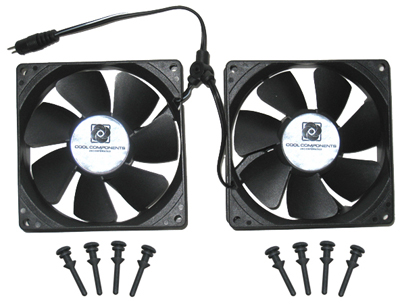 Cool Components Fan Kit - 92x25 2-Fan Assembly