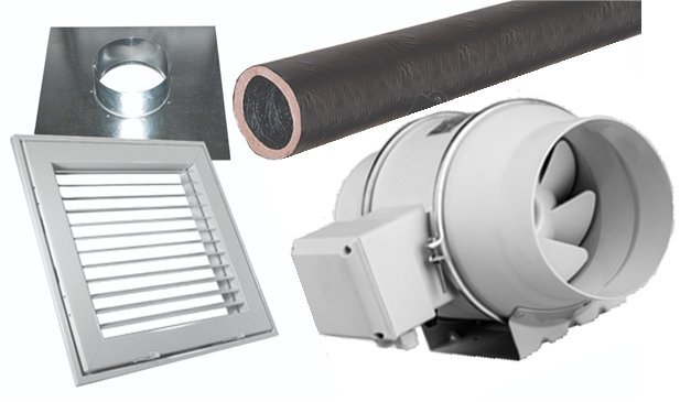 "IDF Ceiling Vent System Package (4"" Pro Version)"