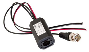 Gem CCTV Balun - BNC Plug with Power and Data Leads