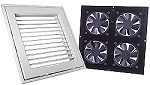 Cool Components Ceiling Vent System - Grill Assembly & Fan Unit